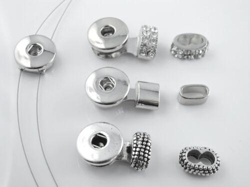 Click Snap Button Druckknopf Armband Verschlüsse Chunk Armbänder selber machen