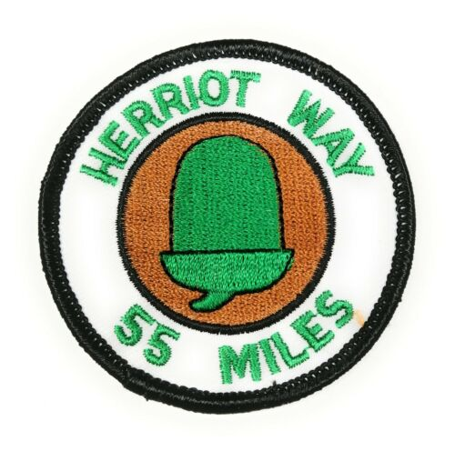 FREE UK P/&P Herriot Way 55 Miles Round Embroidered Sew on patch