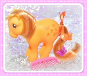 My-Little-Pony-MLP-G1-Vtg-1982-Collector-s-Pose-Butterscotch-COMB-Concave