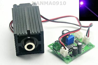 Focusing 405nm 150mW Blue/Violet Laser Module Point Head 12V Long-time Working