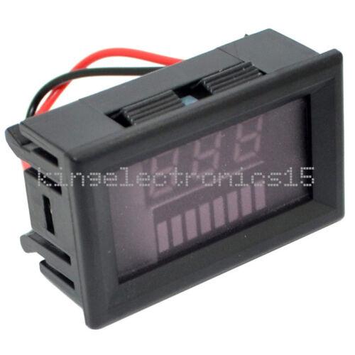 Indicador de capacidad de batería de plomo ácido 12V de nivel de Carga Probador de LED rojo voltímetro