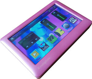 "EVO PINK 80GB 4.3"" TOUCH SCREEN MP5 MP4 MP3 PLAYER VIDEO TV OUT VOICE RECORDER"