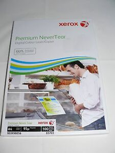 TEAR PROOF AND WATER PROOF PAPER A4 SIZE  10  SHEETS (95 MICRON)