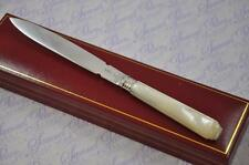 FANTASTIC  MOTHER OF PEARL & SILVER BLADE LETTER OPENER/PAPER KNIFE LONDON 1875