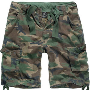 006d82ec69d3 Brandit Mens Urban Legend Army Shorts Vintage Hunting Pants Woodland ...