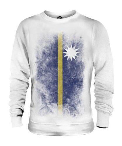 Nauru Descolorido Bandera Unisex Suéter Naoero Fútbol Nauruan Camisa Regalo