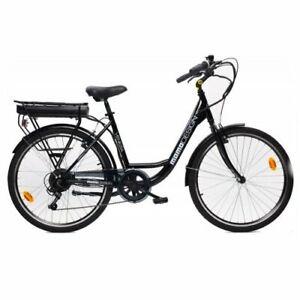 Bicicletta elettrica Momo Design Venezia Black 25 km/h Motore 250W Autonomia