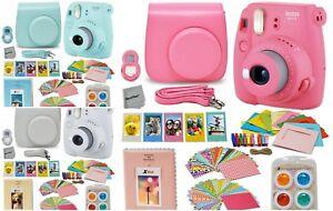 Fujifilm-Instax-Mini-9-Fuji-Camera-Accessories-Case-Strap-Color-Filter-Sticker