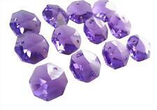 50 Violet Purple 14mm Asfour Lead Crystal Chandelier Beads Suncatcher Octagons
