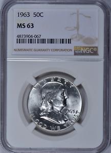 1963 Franklin Half Dollar NGC MS 63