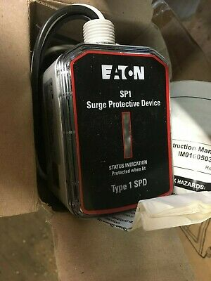 New Eaton SP1-240S Single Split Phase Surge Protective Device