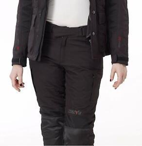 NERVE 1511060404_03 Pantaloni Moto Bout Touring, Nero Taglia M Black Biker pants