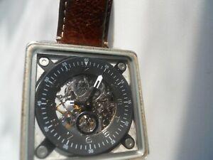 Aus Dem Ausland Importiert Fossil Automatik Herren Braunes Leder Armband- & Taschenuhren Wasserdicht & Analog Gebraucht Armbanduhren