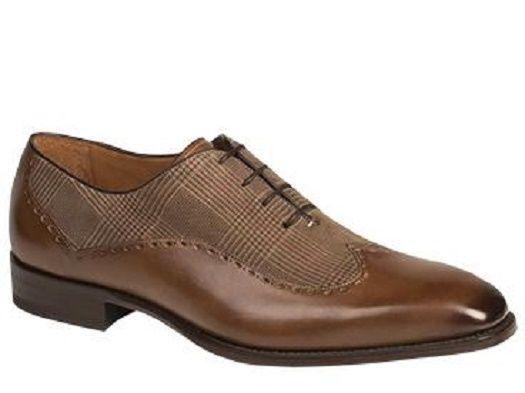 Nuevo En Caja Para Hombre mezlan Marti Artisan combinación espectador punta del ala Oxford en marrón