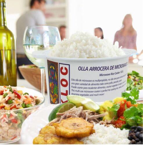 OLLA ARROCERA MICROWAVE KLOC Microwave Rice Cooker Dishwasher Safe,1.85L