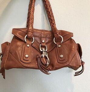 Image Is Loading Francesco Biasia 100 Leather Handbag Brown