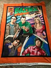 New Licensed The Big Bang Theory Plush Fleece Gift Blanket Sheldon Chibi Cartoon