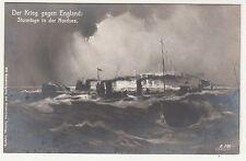 Ak Der Krieg gegen England Sturmtage in der Nordsee 1 Wk IWW !