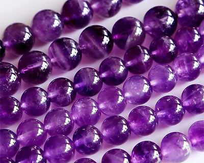Wholesale Natural A Grade Amethyst Round Loose Beads Jewelry Sets Beads 4-18mm