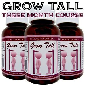 Grow up to 6 inches Taller Safely With Powerful Bone Growth Pills 3 Month course