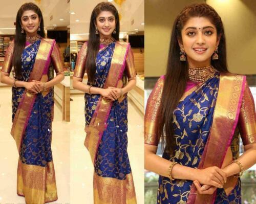 Saree Sari Blouse Designer Bollywood Wear Banarasi Silk Kanchipuram Indian VV