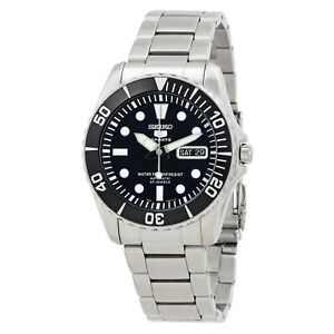 SEIKO 5 Sports SNZF17K1 23 Jewels Automatic Black Dial Stainless Steel Men Watch