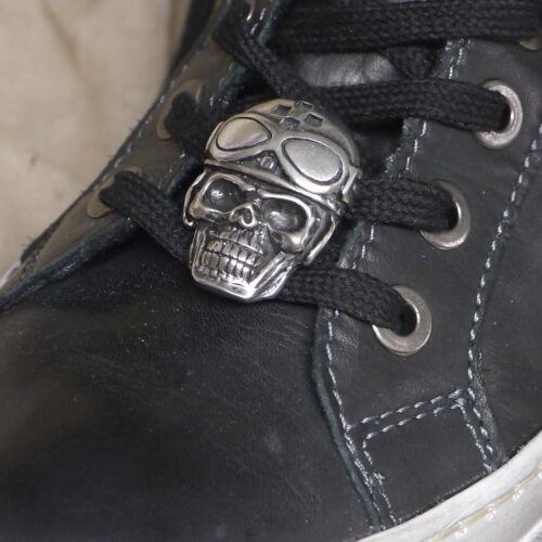 Springerstiefel Boots Sneakers Schnürhose stabil ZINN Schuh Pins BIKER Skull f