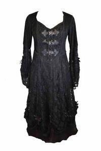 À 14 Lacets Noire Taille Robe Long EUnvqFXx0