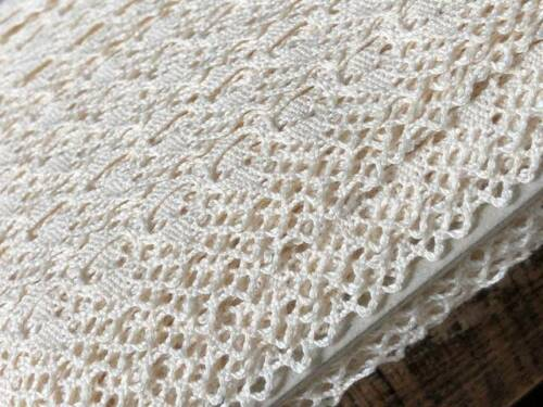 "laverslace Quality Cream Eyelet Cotton Cluny Crochet Lace Trim 1.25/""//3cm Sewing"