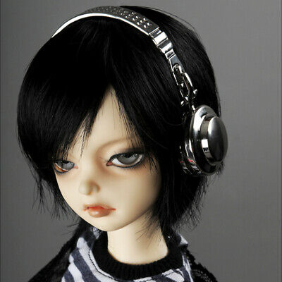 Dollmore 1//4 BJD accessory MSD and YOSD Dollmore Art Headphone White Gold