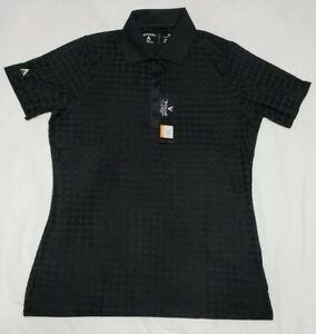 NEW-Antigua-Womens-Gem-Desert-Dry-Golf-Polo-Shirt-Black-Size-M-Medium
