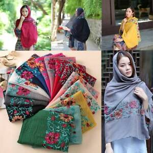 Embroidered-Floral-Viscose-Scarf-Shawl-From-Indian-Bandana-Print-Cotton-Scarves