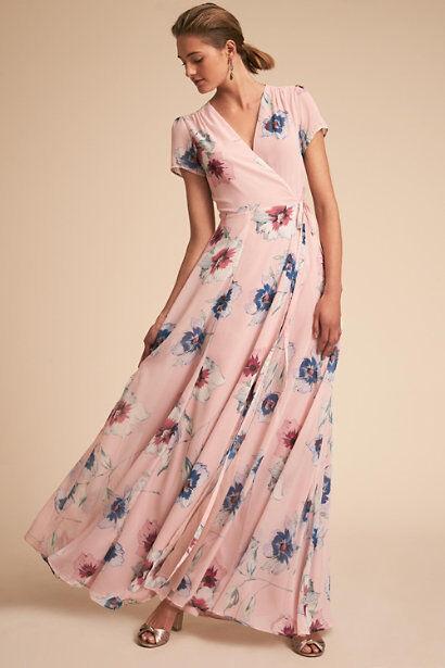 New BHLDN Yumi Kim Calypso Pink Floral Wrap Dress Sz XXS