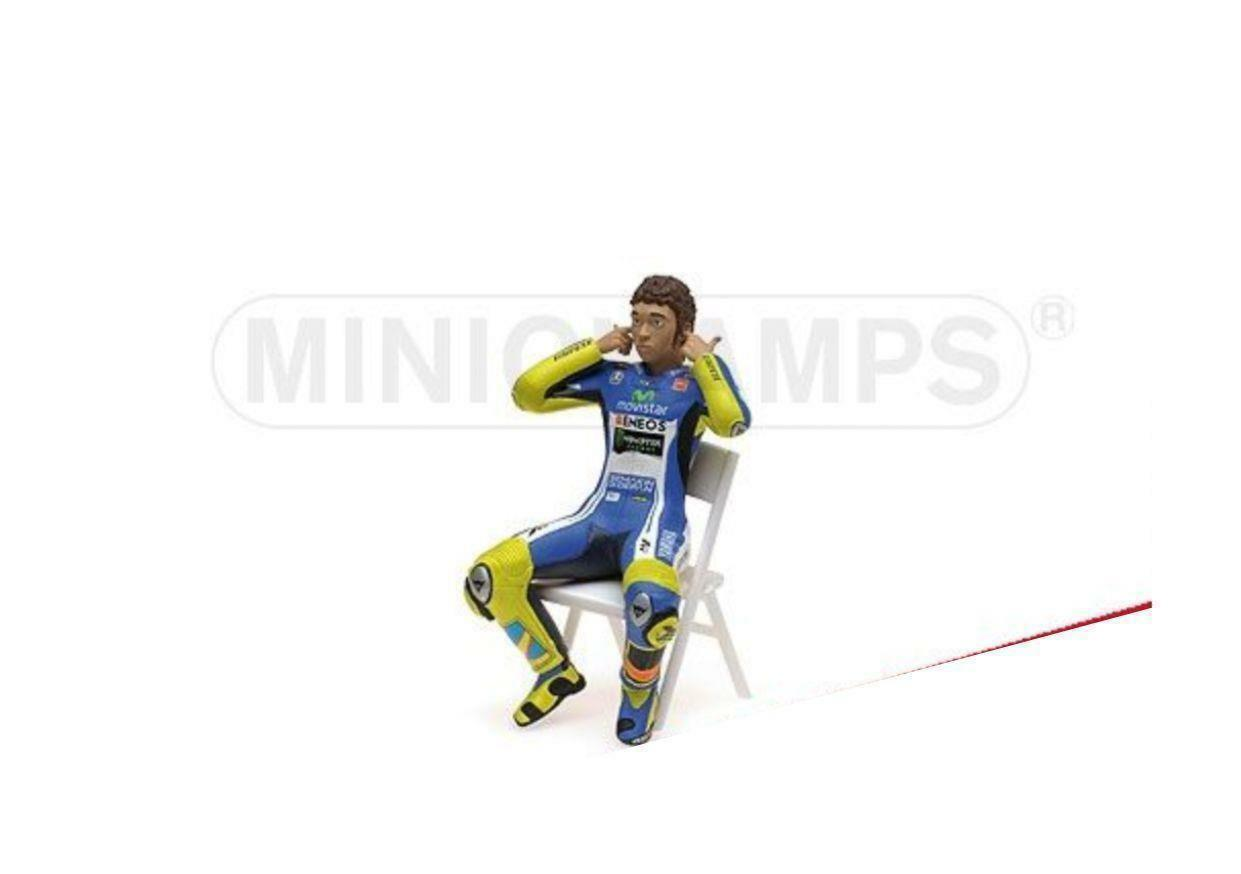 Minichamps figurine valentino rosi motogp 2014 checking the ear plugs 1 12