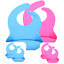 miniature 1 - Silicone Baby Bibs Waterproof Pink or Blue - 2 pack Baby Bib Silicone
