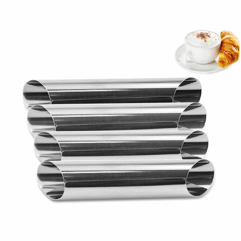 12Pcs Non Stick Bread Cannoli Form Tubes Cream Roll Horns Mold Cake Baking Tools 2