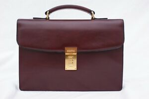 Image Is Loading Goldpfeil Brand New Burgundy Leather Mini Tablet Briefcase