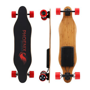 USED Electric Skateboard 9 Miles 16 MPH Dual 250W Motors Longboard with Remote