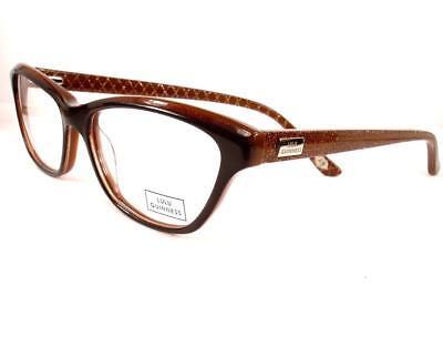 LuLu Guinness 870 Brown Tura Women New Eyeglasses Plastic Frames 52 ...