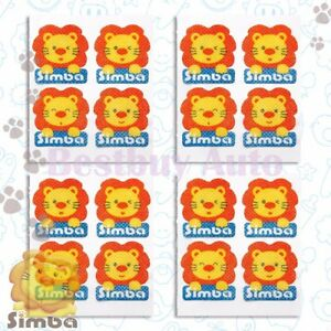 16 Pc Natural Mosquito Fly Repellent Sticker Cute Lion For