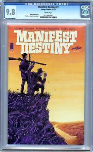 Manifest Destiny #1 CGC 9.8 (Nov 2013, Image) First Print. White Pages.