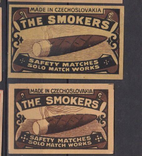 Ancienne   étiquette allumettes Tchécoslovaquie  AB44   Cigare