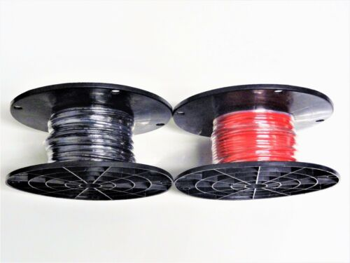 BLACK AND RED 16 GAUGE GXL AUTOMOTIVE HIGH TEMP  WIRE 100/' EA COLOR ON A REEL