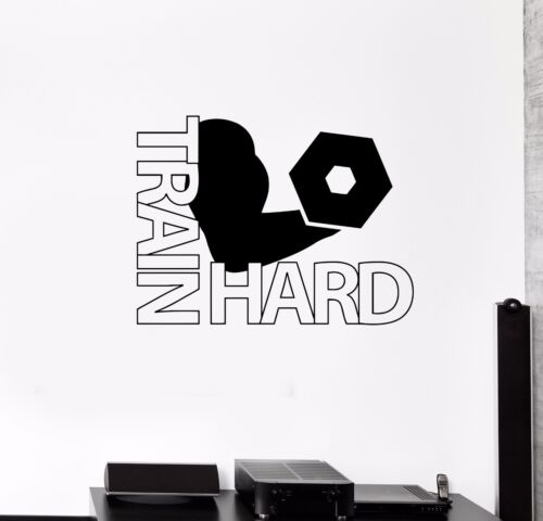 ed754 Wall Decal Heavy Workout Gym Motivation Fitness Sports Vinyl Sticker