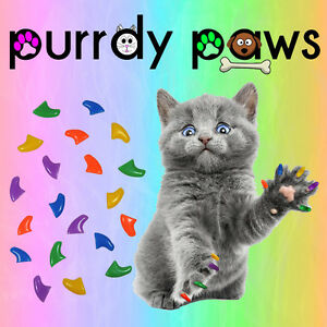 Soft-Nail-Caps-For-Cat-Claws-COMBO-COLORS-Purrdy-Paws-USA-SELLER
