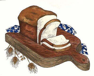 """Bread  4 pcs  1-1//4/"""" X 3-3//4/"""" Waterslide Ceramic Decals Xx"""