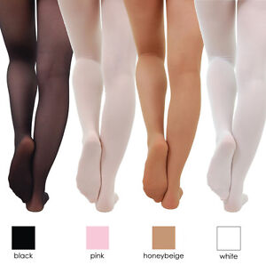 1f6b49640fdbc Children's Ballet Dance Tights Footed Seamless Girls and Ladies NEW ...