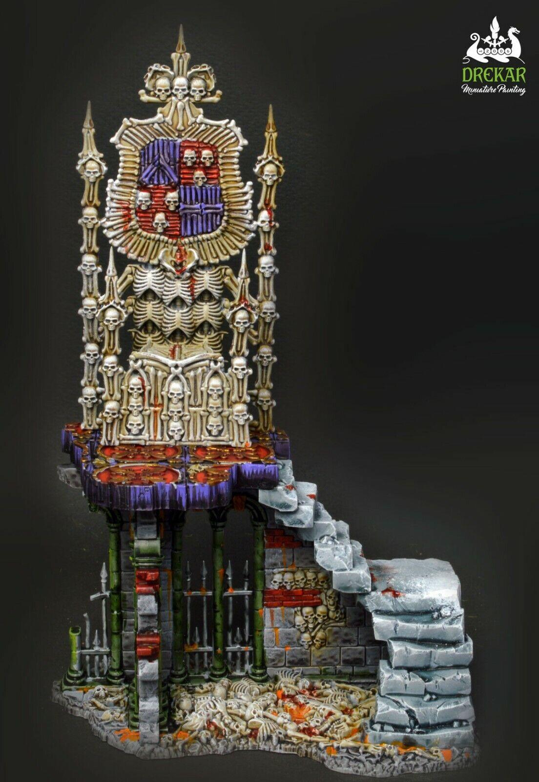 Osario trono Cochene caprichosos edad de Sigmar Warhammer   Comisión Pintura