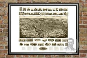 Details about Old Map of Bristol, CT from 1906 - Vintage Connecticut Art,  Historic Decor
