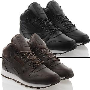 Neu Schuhe Reebok Cl Leather Mid Basic Boots Stiefel Winter Herren